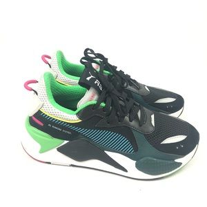 PUMA RS-X TOYS SHOES BLACK BLUE ATOLL SNEAKERS